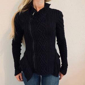 BCBGMaxAzria Zipper Black Sweater